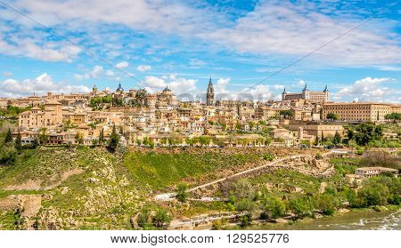 TOLEDO,SPAIN - APRIL 23,2016 - View at the Toledo city. Toledo is known as City of the Three Cultures .