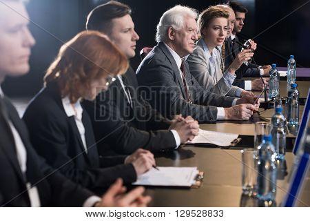 Businessman At Conference Desk