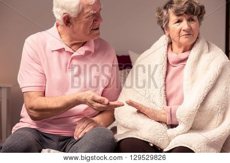 Conflict Between Senior Man And Woman