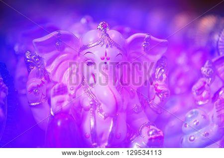 A traditional idol of lord Ganesha son of lord Shiva also known as Ganpati Ganapati Ganpathi Ganesh or Ganpathi.