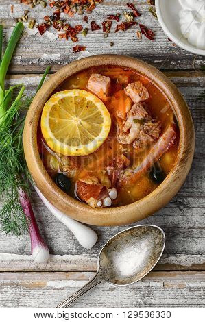 Dish Of Russian Cuisine-beef Stew