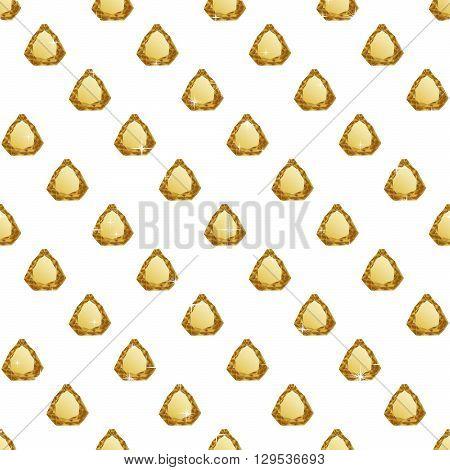 Diamonds seamless pattern. Vector illustration jewerly. Abstract diamond vector background. Jem seamless pattern. Seamless background, brilliant jewels, yellow gold diamond