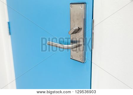 Stainless Steel Door Handle In Hotel