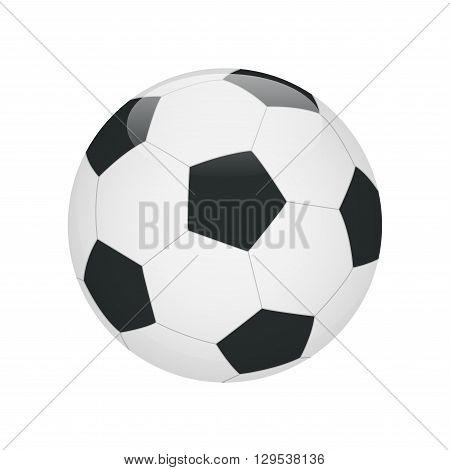 Soccer ball. Soccer ball icon.  Flat 3d vector illustration