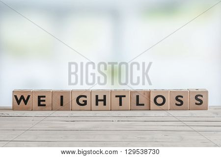 Weightloss Sign In A Bright Room