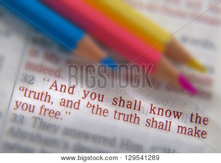 Bible Text And Crayons