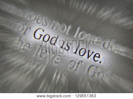 Bible Text God Is Love - 1 John 4:8