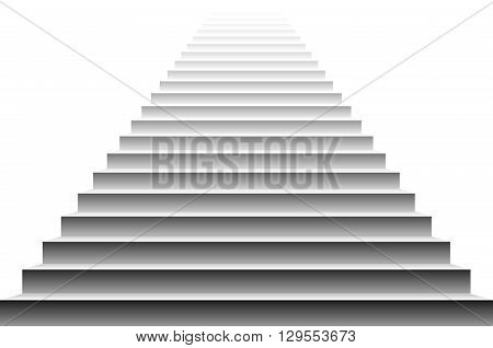 Stairs Vector. Stairs. Detailed Illustration Of Black White Stairs, Eps10 Vector