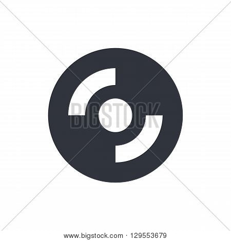 Cd-rom Icon In Vector Format. Premium Quality Cd-rom Symbol. Web Graphic Cd-rom Sign On White Backgr