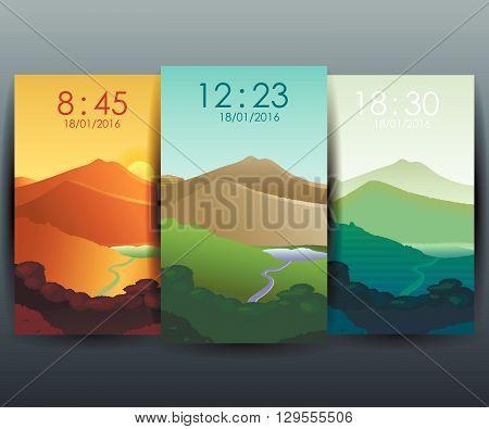 Mobile Interface Wallpaper Design.