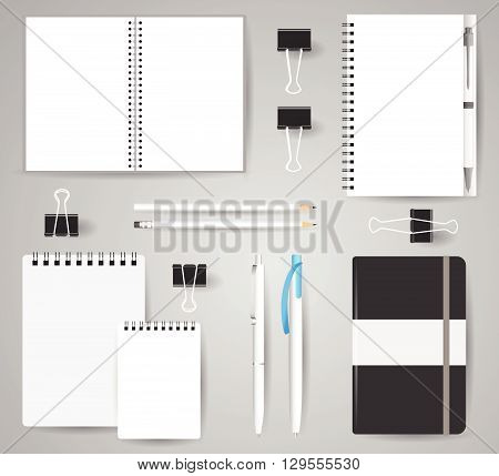 Stock Vector Mockup Set