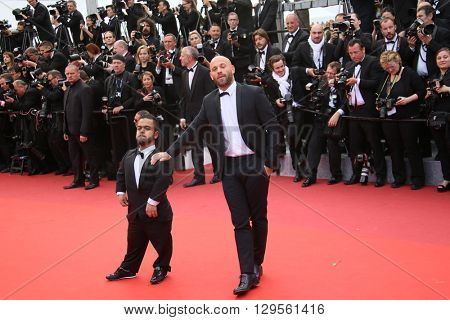 Pattaya film actors Franck Gastambide and Anouar Toubali  attend the 'Money Monster' Premiere during the 69th annual Cannes Film Festival on May 12, 2016 in Cannes, France.
