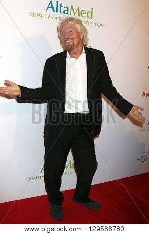 LOS ANGELES - MAY 12:  Sir RIchard Branson at the Power Up Gala at the Beverly Wilshire Hotel on May 12, 2016 in Beverly Hills, CA