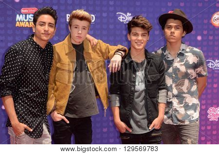 LOS ANGELES - APR 29:  New District at the 2016 Radio Disney Music Awards at the Microsoft Theater on April 29, 2016 in Los Angeles, CA