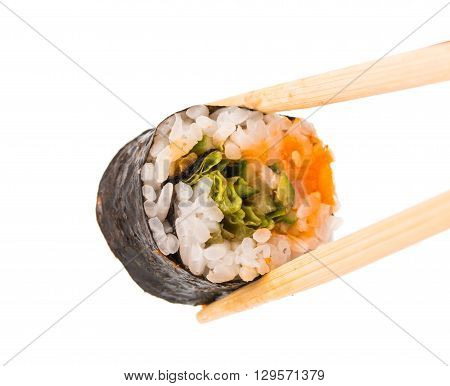 sushi isolated on white background lunch, maguro, maki,