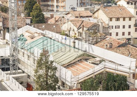 Renovation Of A Roof.