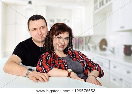 Smiling Family Couple