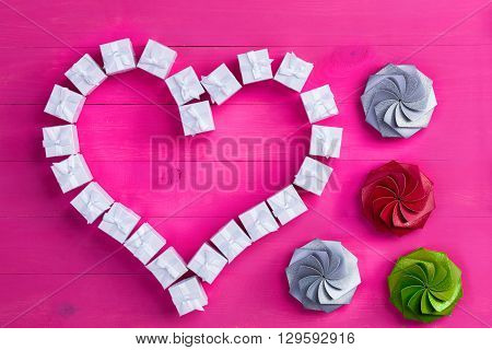 Valentines Day Shapes Made From Gift Boxes