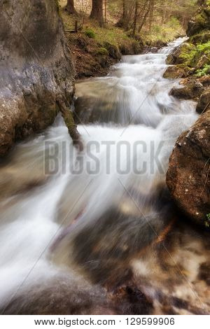 Flowing water in forest - Blatnicka valley, Slovakia