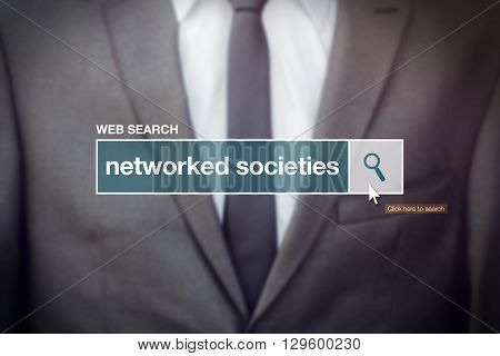 Networked societies web search bar glossary term on internet