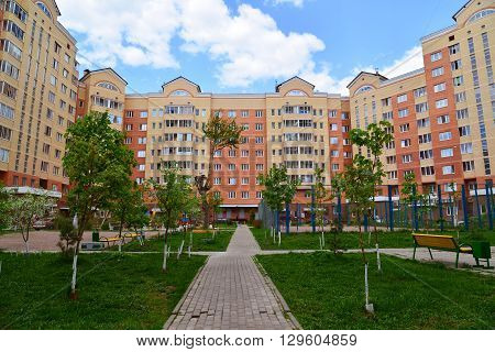 Moscow, Russia - May 11.2016. district number 20 in a Zelenograd