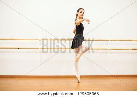 Dancer Doing Some Barre Work