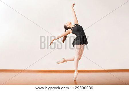 Ballerina Performing In A Dance Studio