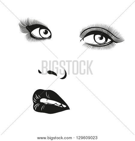 Beautiful woman vector portrait. Portrait face girl, portrait illustration, portrait fashion woman, female young portrait illustration