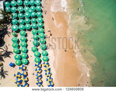 Top View of a Beach, Bahia, Brazil