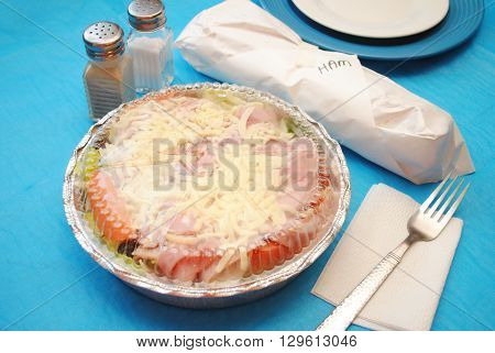 Takeout Salad and Deli Sub Sandwich for One