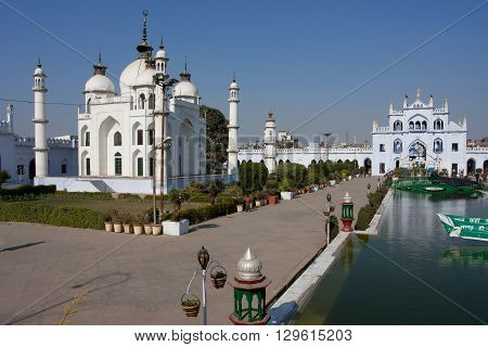 LUCKNOW, INDIA - DEC 19, 2012: Small mosque in the complex Hussainabad Imambara at the sunny day on December 19, 2012 in Lucknow India. Hussainabad Imambara was built by the third Nawab of Awadh in 1838.