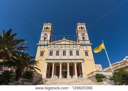 Orthodox Anastaseos church, Ermopoli, Syros, Cyclades Islands, Greece