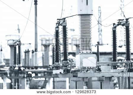 High voltage electric power. Structure power station poster