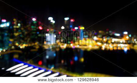 Bokeh Skyline Background