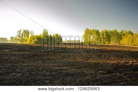 plowed fields are interspersed among the woods, come spring, the farmers began to work