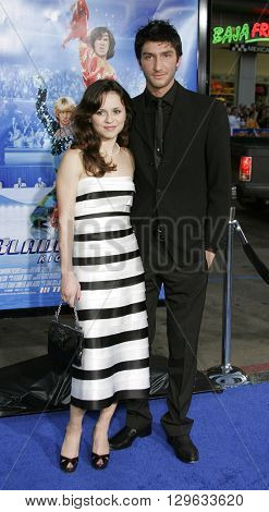 Evan Lysacek and Sasha Cohen at the Los Angeles premiere of 'Blades of Glory' held at the Mann's Chinese Theater in Hollywood, USA on March 28, 2007.