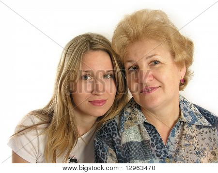 girl with mother