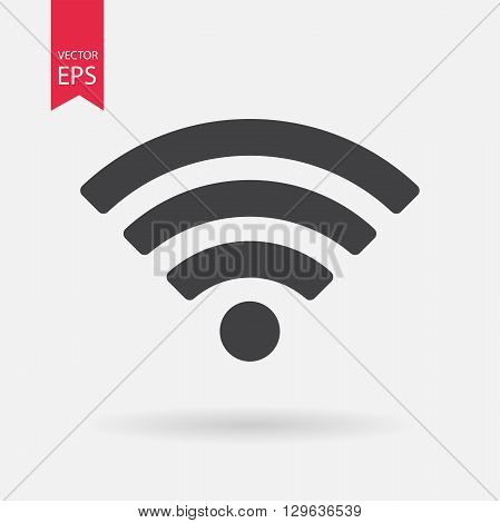 WIFI Icon Vector. WIFI sign isolated on white background.
