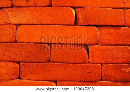 Red brick texture. Brick pattern for interior design purposes