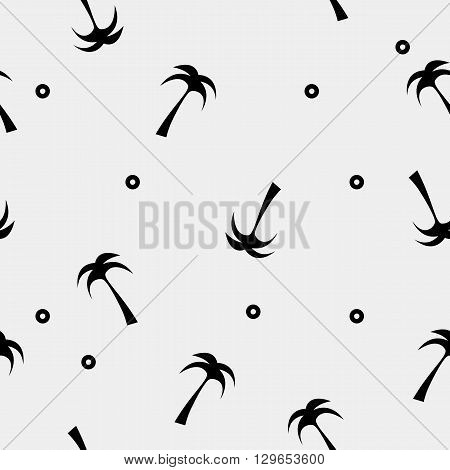 Vector seamless simple pattern. Modern stylish texture. Palm tree - stock vector