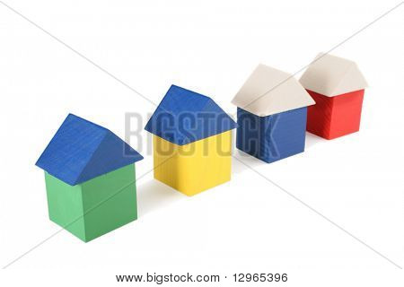wood toy houses