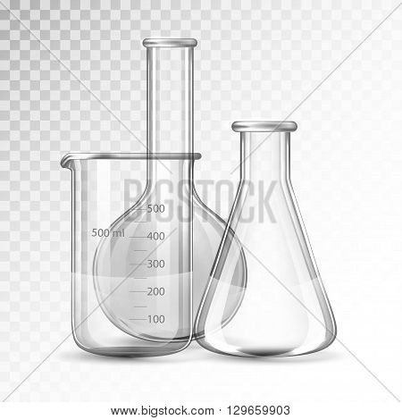 Test-tubes isolated on a white background .