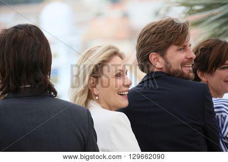 Jury member Marthe Keller attends the Jury Un Certain Regard photocall during the 69th annual Cannes Film Festival at the Palais des Festivals on May 13, 2016 in Cannes, France.