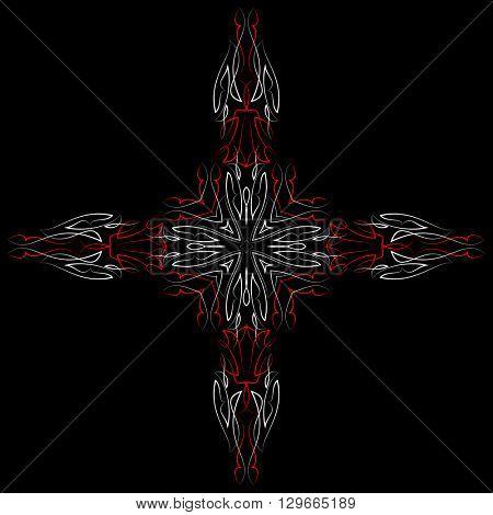 Pinstripe Christian Cross : Vinyl Ready Vector Illustration