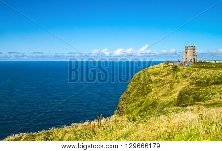 Ireland Calway county Cliffs of Moher the O'Brien tower