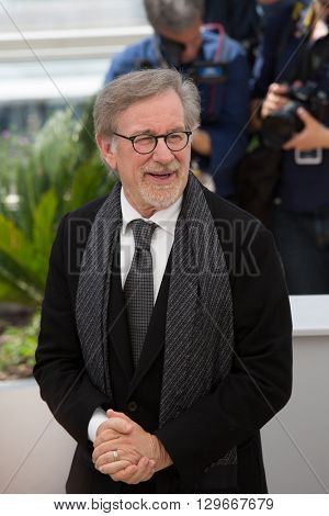 Steven Spielberg  at the photocall for 'The BFG (Le Bon Gros Geant - Le BGG)' , at the 69th Festival de Cannes.