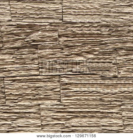 Seamless stone wall texture. Wooden bricks wall pattern