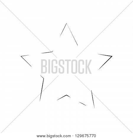 star patriot symbol grunge vector shape. Vector star. Black old figure star. Army and patriotism. Grunge star background