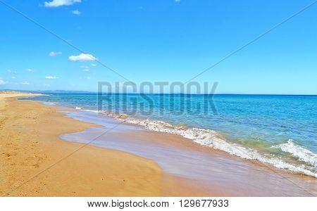 landscape of Glyfa beach at Ilia Peloponnese Greece