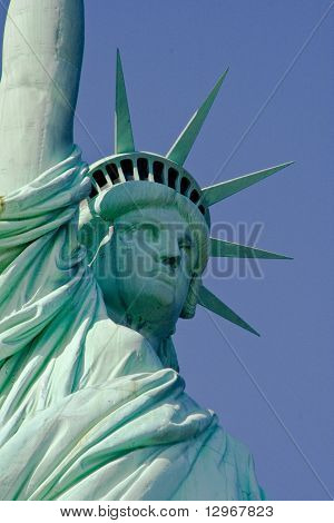 Close Up View of Statue of Liberty